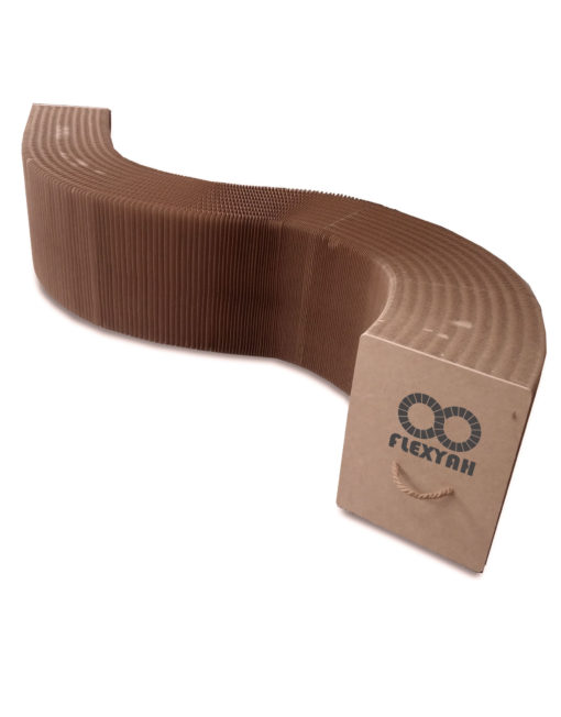 FlexYah-Brown-Bench-Flexible-Expanded-paper-stretches-11-feet