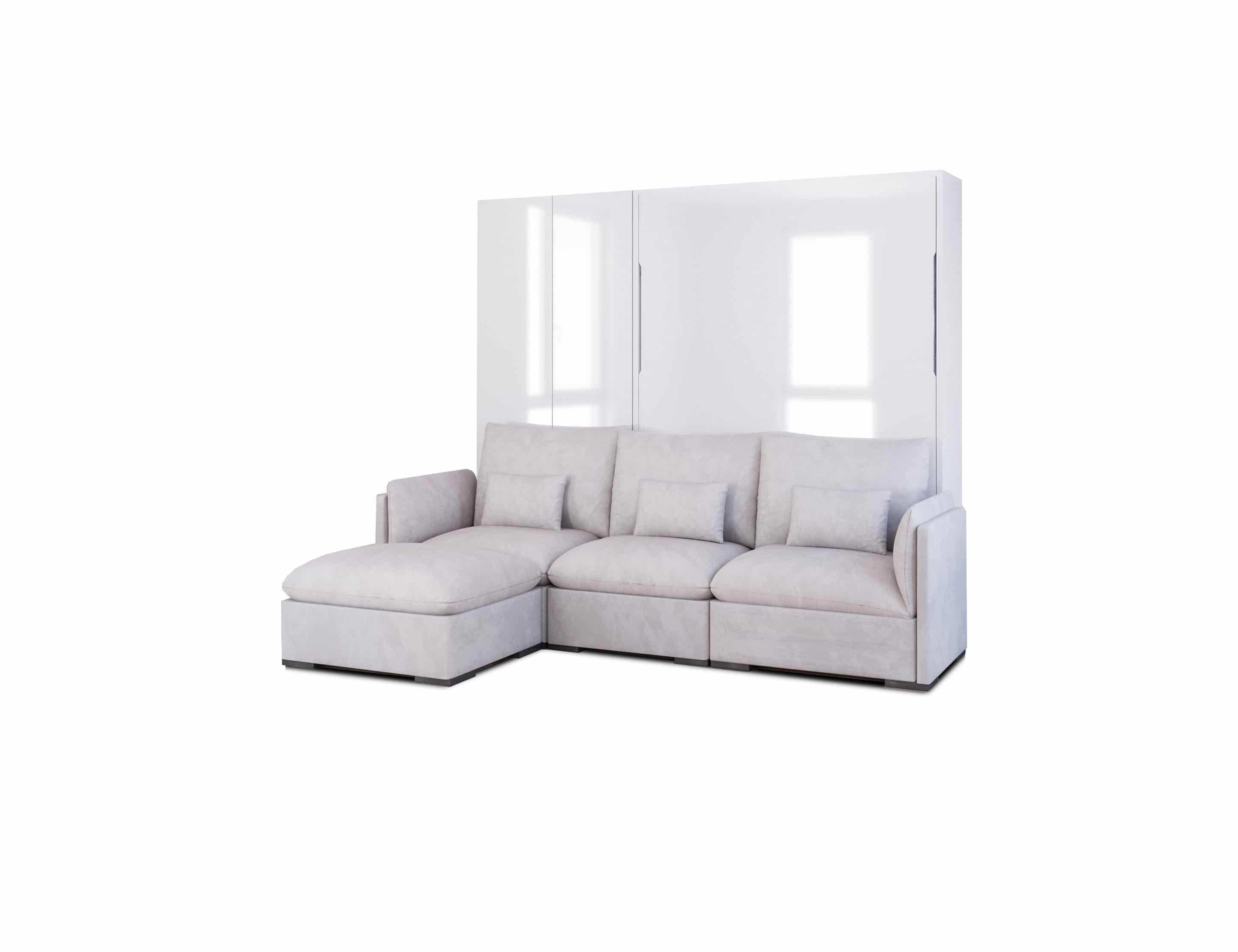 Queen Luxury Sectional Sofa Wall Bed