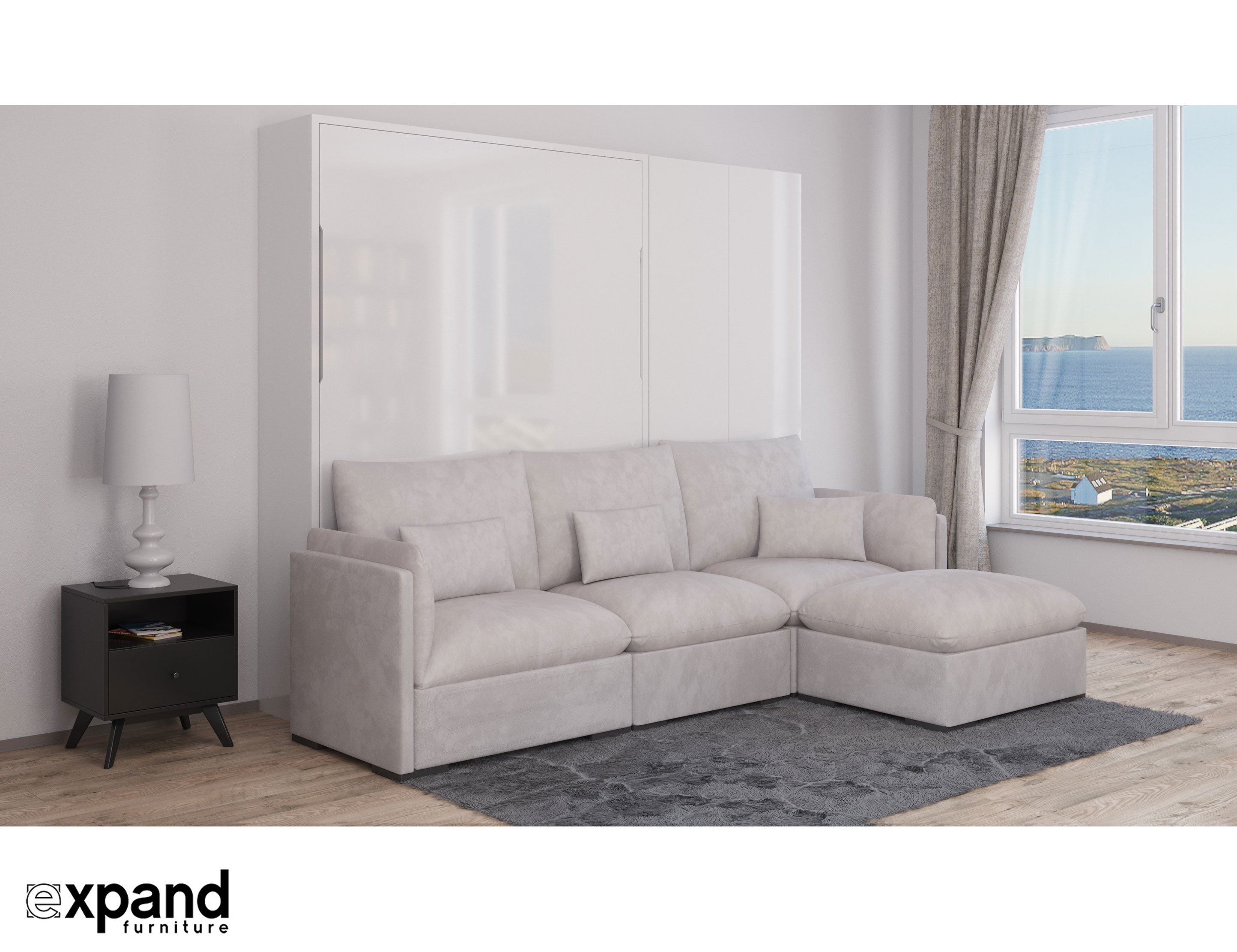 MurphySofa ADAGIO - Queen Luxury Sectional Sofa Wall Bed | Expand ...