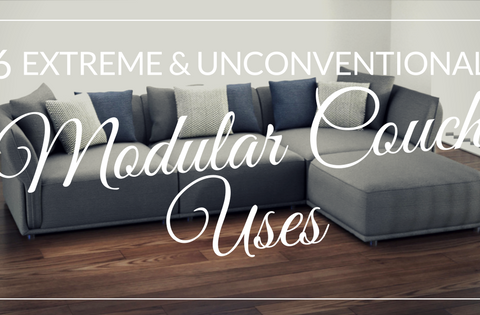 6 extreme and unconventional modular couch uses