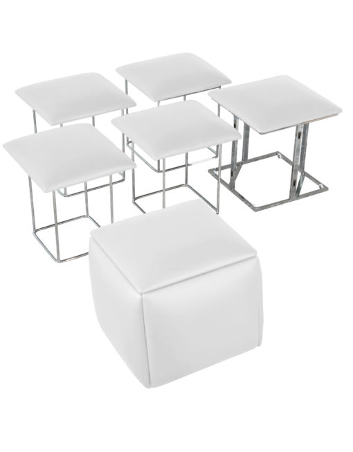 Companion-Cube-5-in-1-seats-in-white space saving ottoman seat