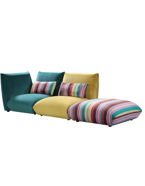 Basso-3-piece-modular-bubble-sofa-set-in-greens-and-stripes