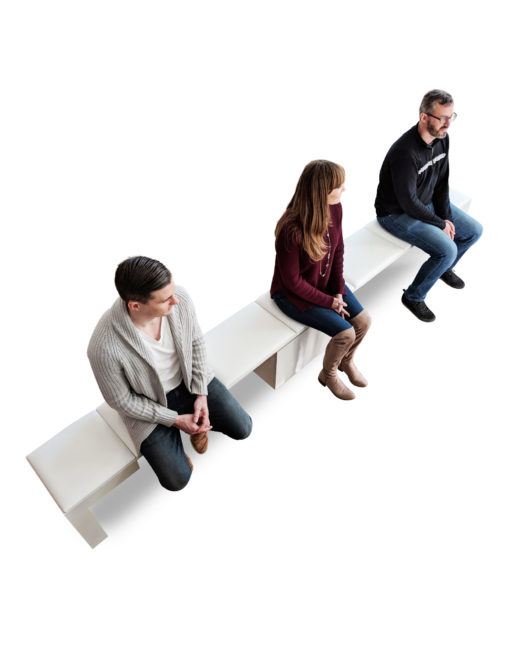 Scatola-compact-to-Extended-bench-with-people-sitting-on-it