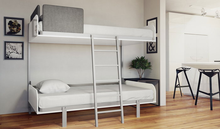 Houston space-saving hidden bunk beds