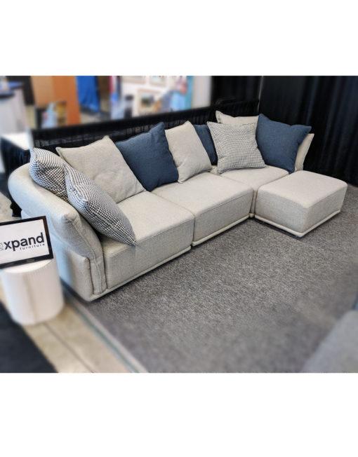 Sofa-paired-with-mini-ottoman-Stratus-modular