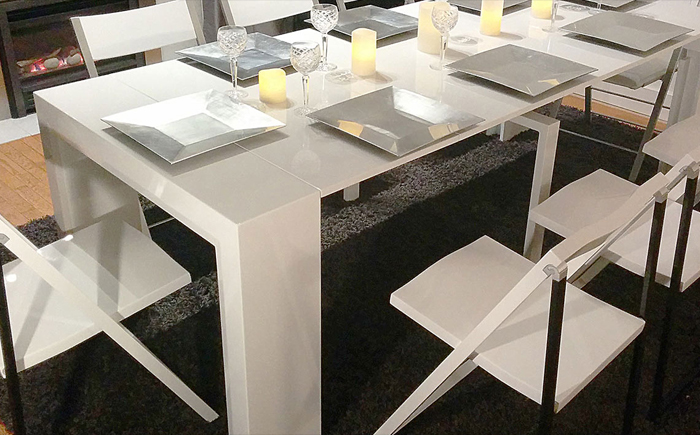 Transforming dining table and dining sets In Singapore with Expand Furniture