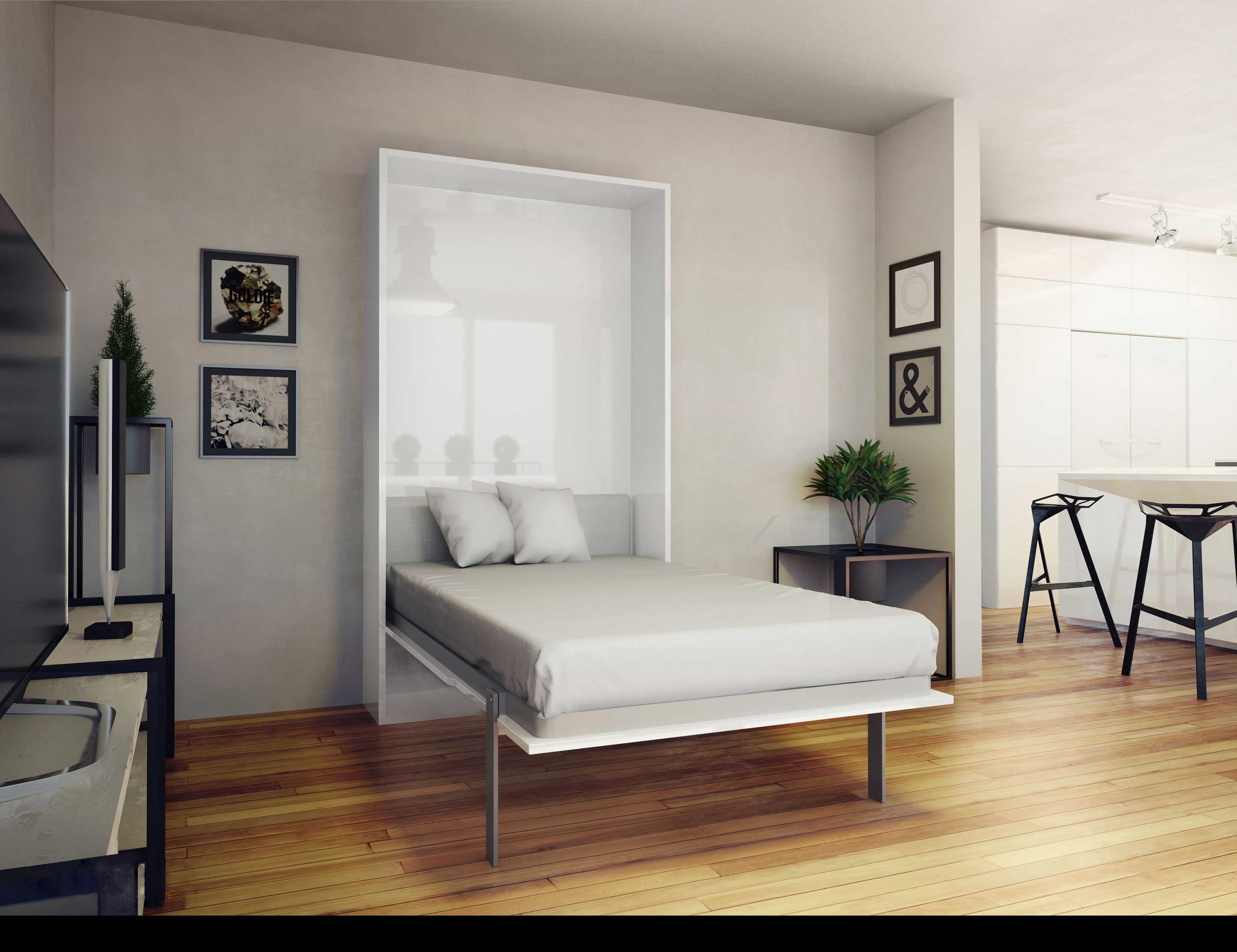 Hover Twin Vertical Murphy Bed Expand Furniture Folding Tables Smarter Wall Beds Space Savers