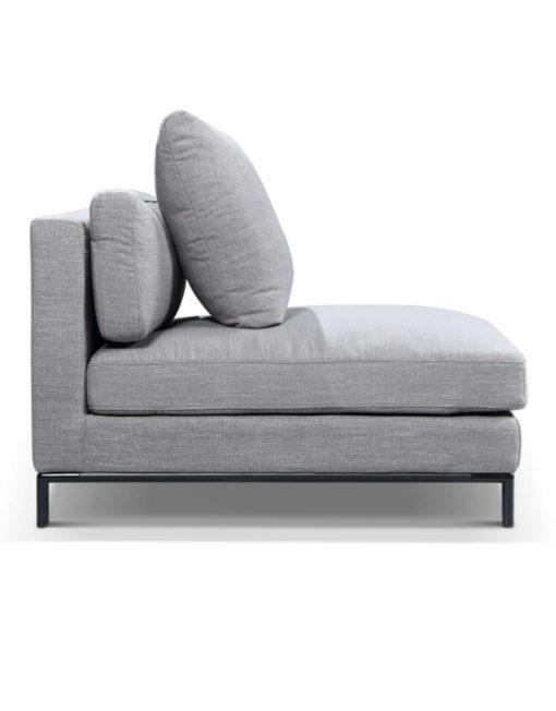 Migliore single side Sofa module in new iron grey fabric with modular design