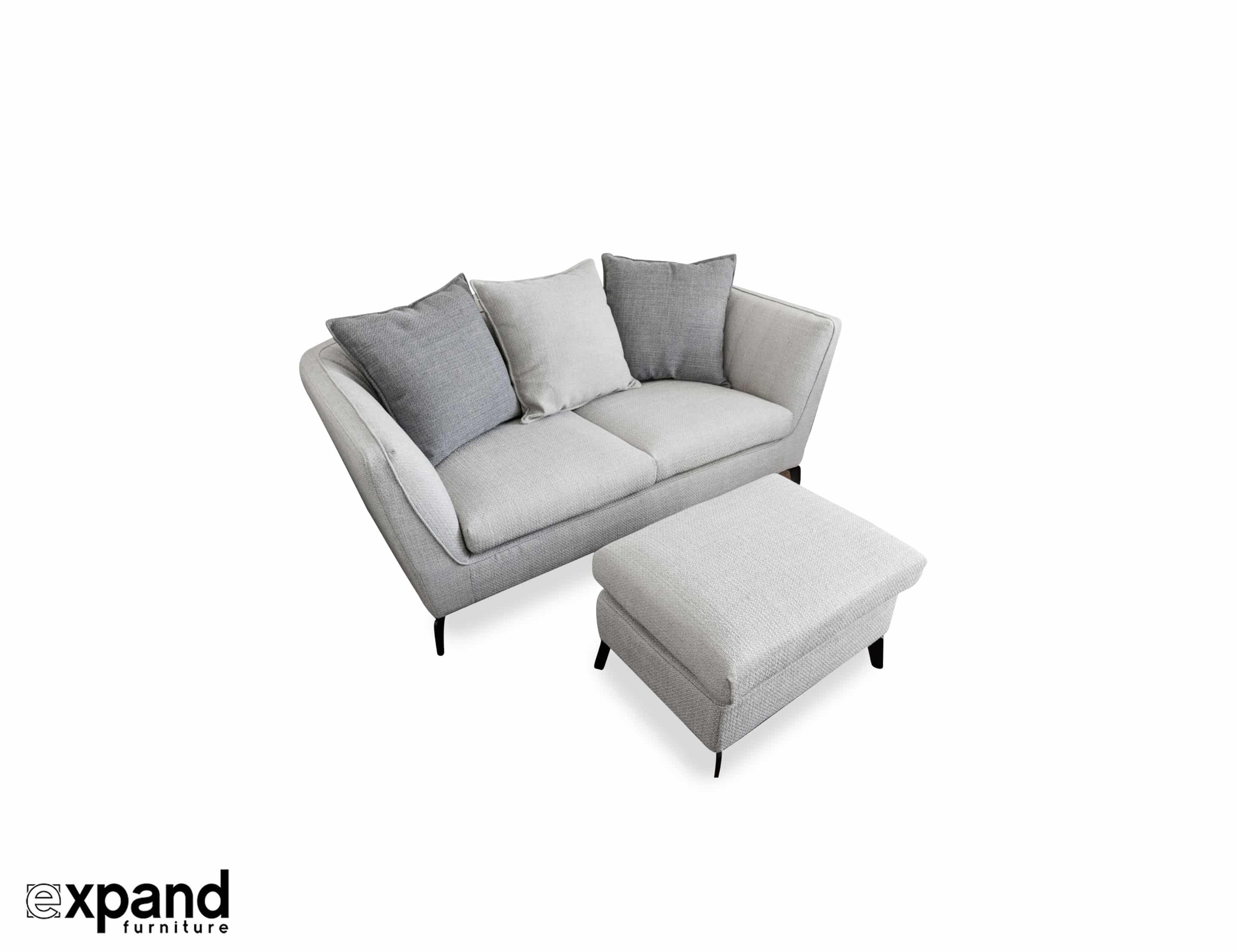 Skyline: Small Apartment Sofa with Ottoman | Expand Furniture ...