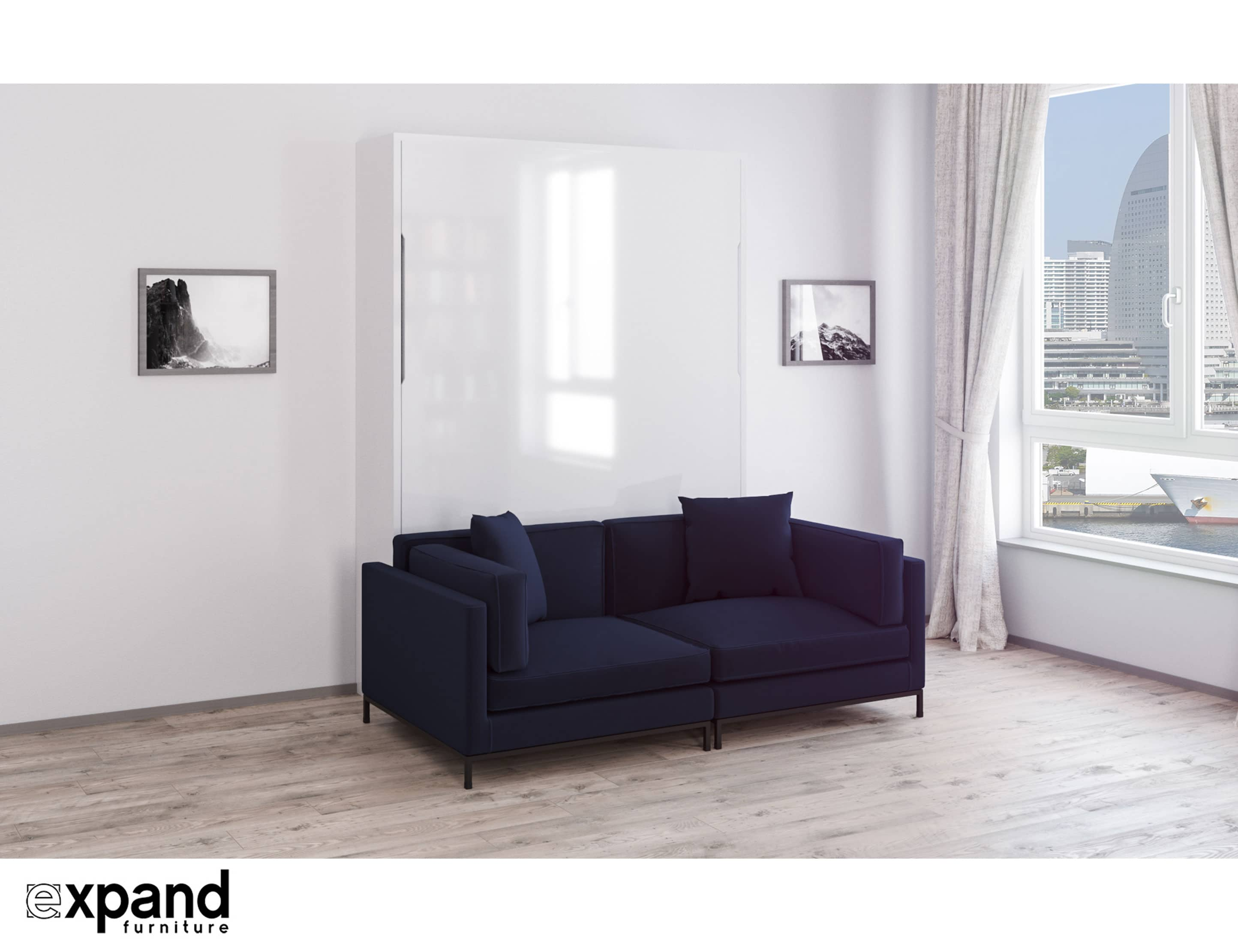 Murphysofa Migliore 2 Seat Sofa In Leather Or Microfiber