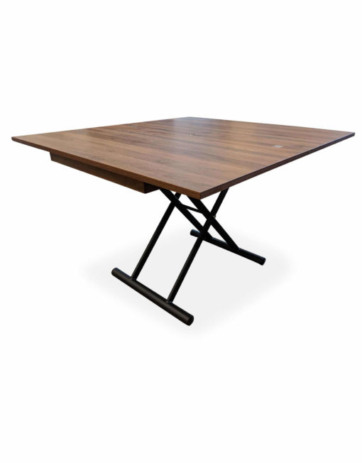 New-Alzare-Chocolate-Transforming-Table-raised-in-converted-larger-table-form
