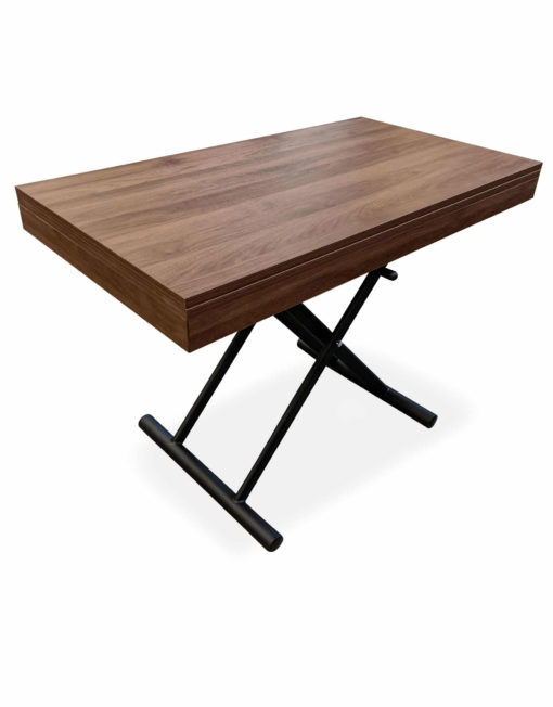 New-Alzare-Chocolate-Transforming-Table-raised-in-small-form-with-hydrualic-lift