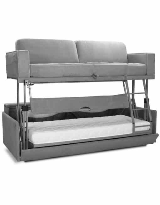 Dormire v2 from Italy - Bunk bed couch combination double decker sofa sleeps 2 adults