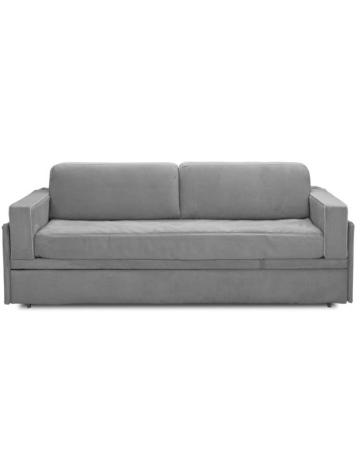 Dormire v2 from Italy - Sofa lifts into bunk bed in grey soft fabric sofa
