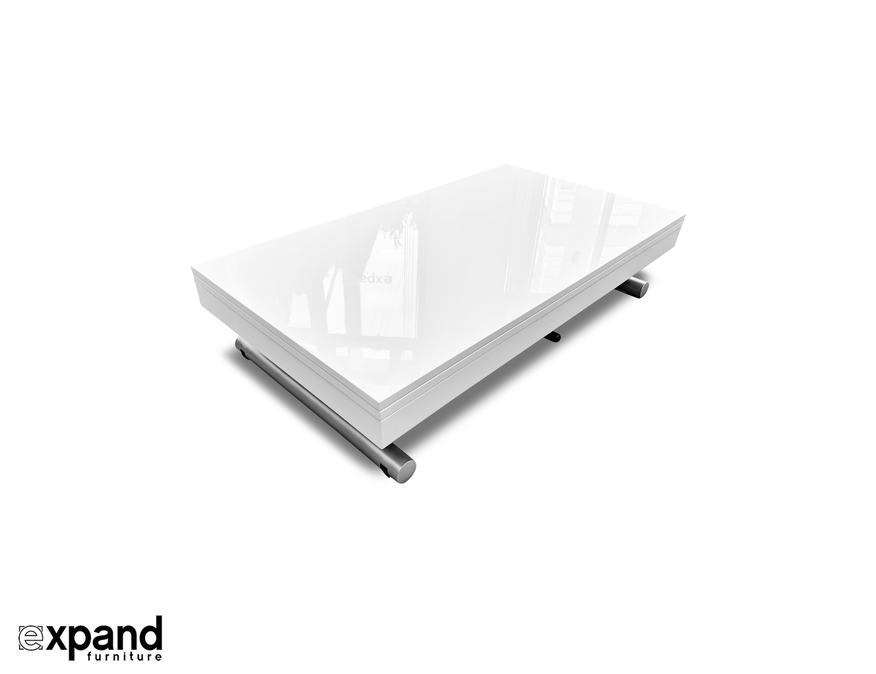 Alzare Small Transforming Coffee Table Expand Furniture Folding