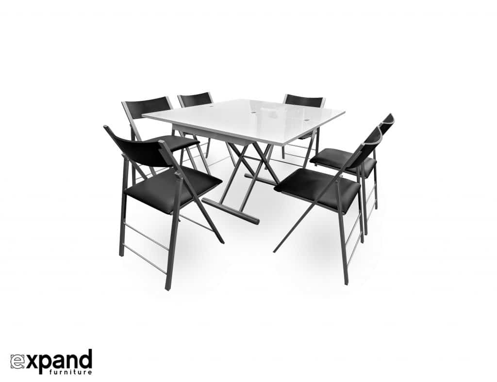 The Alzare Raising Coffee Dining Table Set Expand