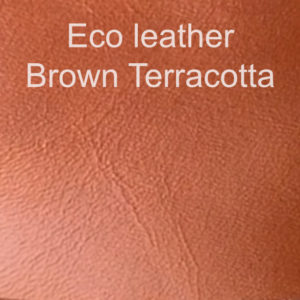 Eco leather brown terracotta example