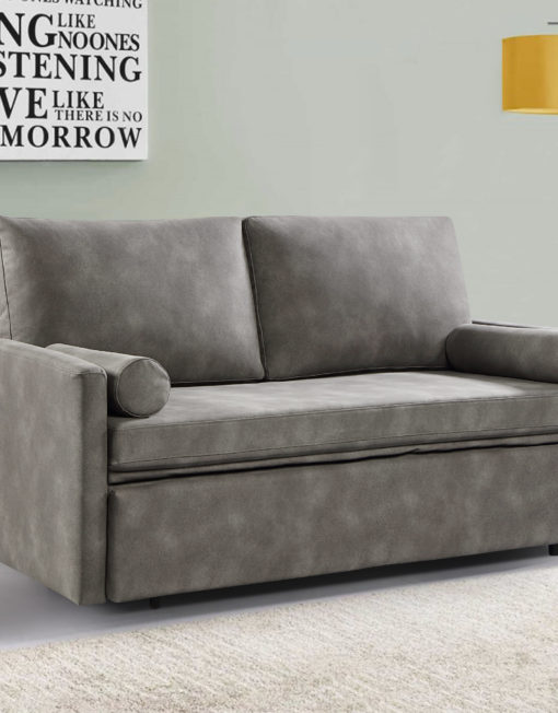 Harmony 2 - queen eco leather - Coastal grey sofa bed in modern room