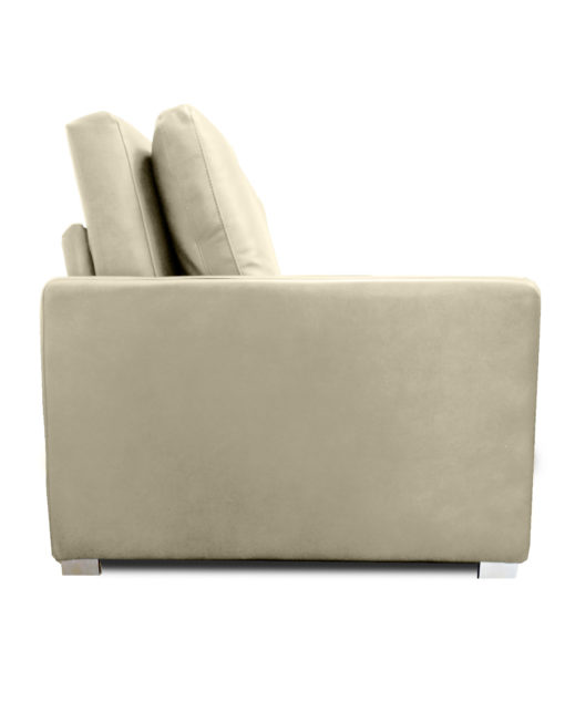 Harmony-Sofa-bed-in-Taupe-Beige-eco-leather-from-the-side