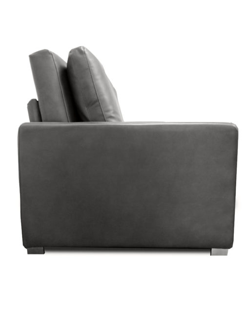 Harmony-Sofa-bed-in-dark-grey-eco-leather-from-the-side