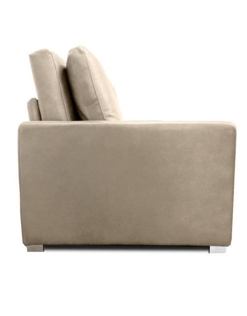 Harmony-Sofa-bed-in-new-Taupe-Beige-eco-leather-from-the-side