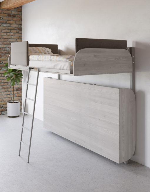 Hover-Folding-Bunk-Bed-in-Cascina-Grey-Pine---half-open