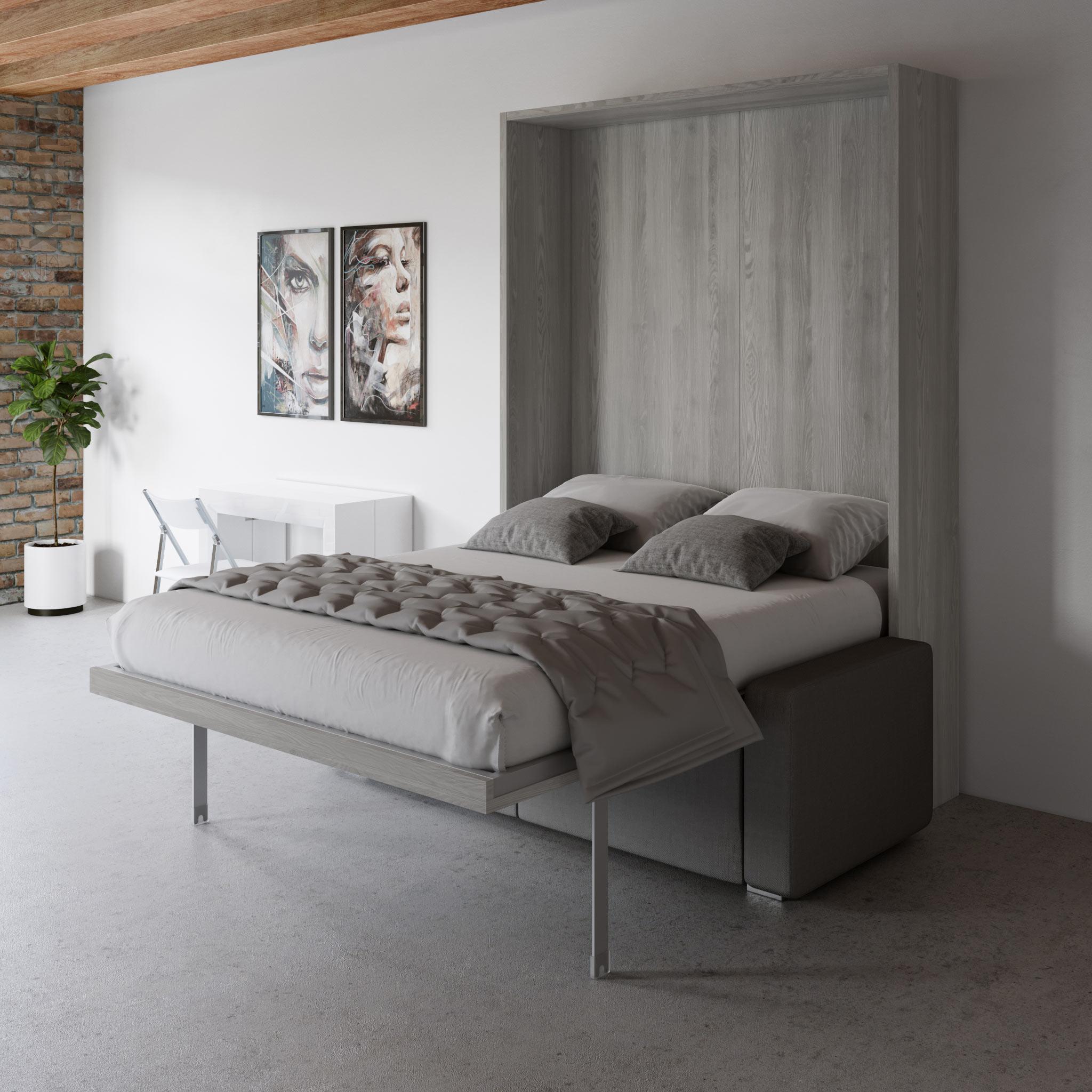 Murphysofa Clean Queen Wall Bed Sofa