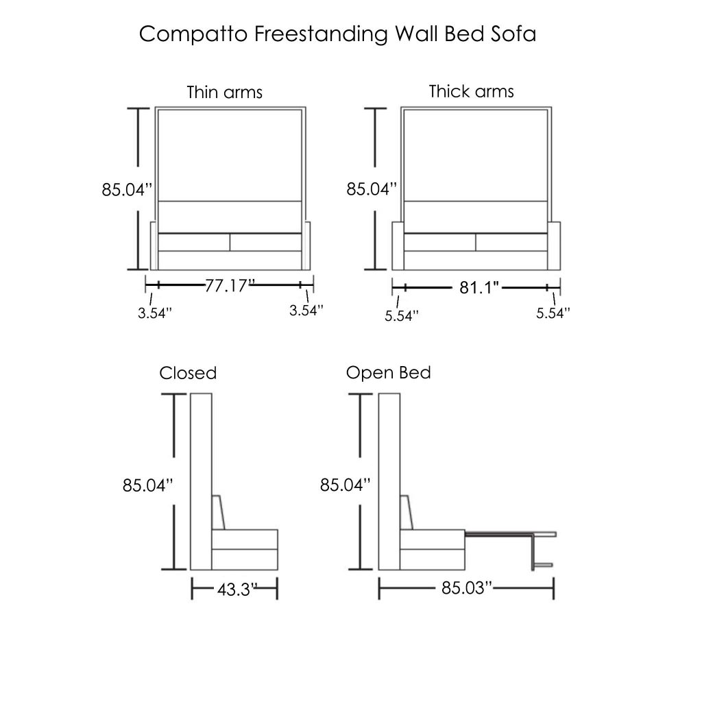 Compatto-freestanding-wall-bed-sofa-dimensions 2021