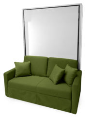 Free standing no mount wall bed sofa from italy
