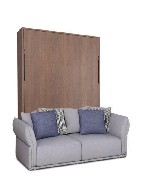 MurphySofa-Stratus-walnut-finish-with-grey-sofa-wall-bed-combo