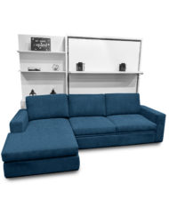 compatto blue c19 sectional sofa - white murphy bed over sofa