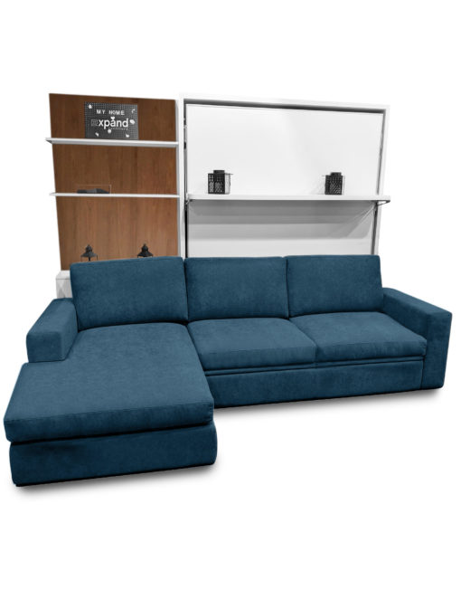 compatto-blue-c19-sectional-sofa-white-murphy-bed-with-walnut-wood-cupboard
