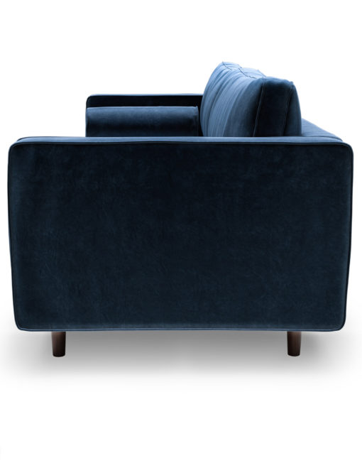 Scandormi-Contemporary-Modern-Tufted-Sofa-in-Blue-Velvet-microfiber-shown-from-the-side