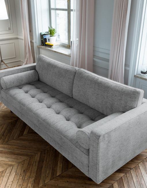 Scandormi Grey durable fabric modern sofa contemporary (5)