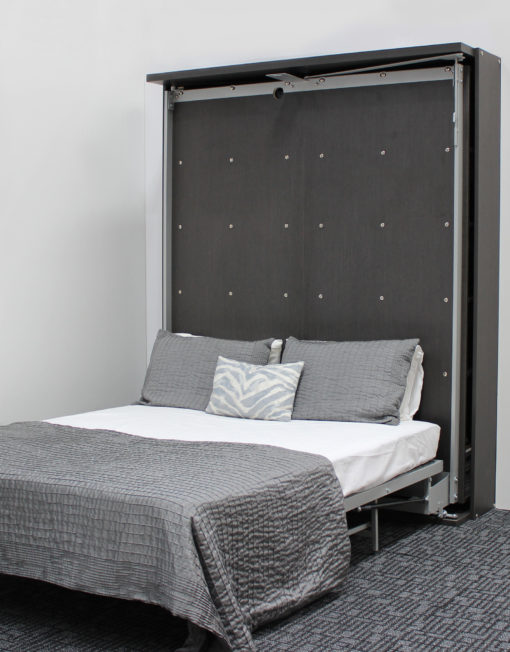 compatto-revolving-wall-bed-tv-bookshelf-opened-into-bed-mode