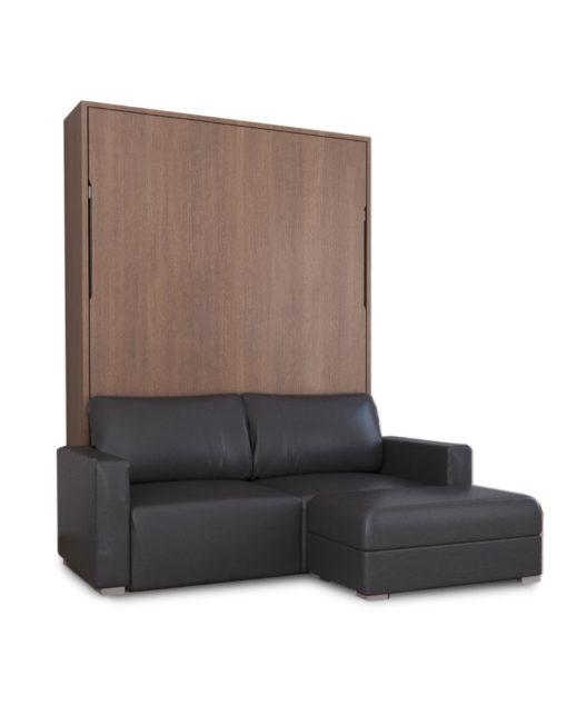 MurphySofa-Minima-in-Walnut-eg-with-dark-pu-leather-sofa