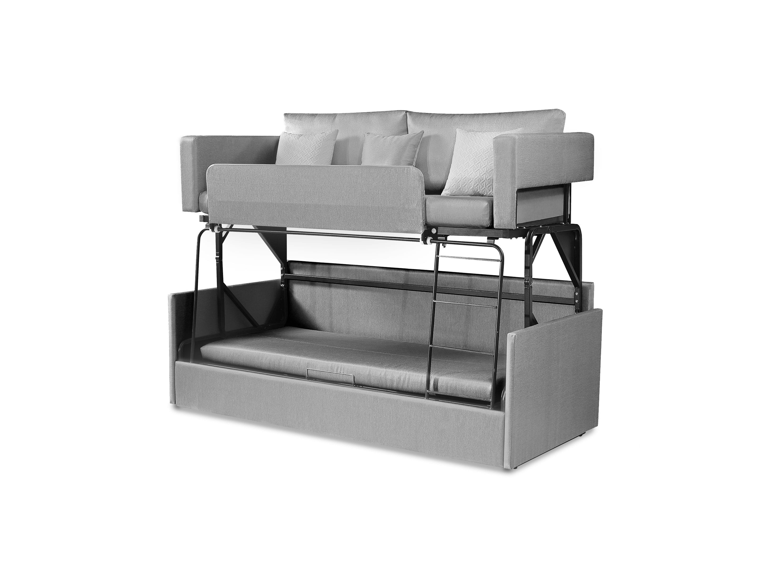 Picture of: The Dormire Bunk Bed Couch Transformer Expand Furniture Folding Tables Smarter Wall Beds Space Savers