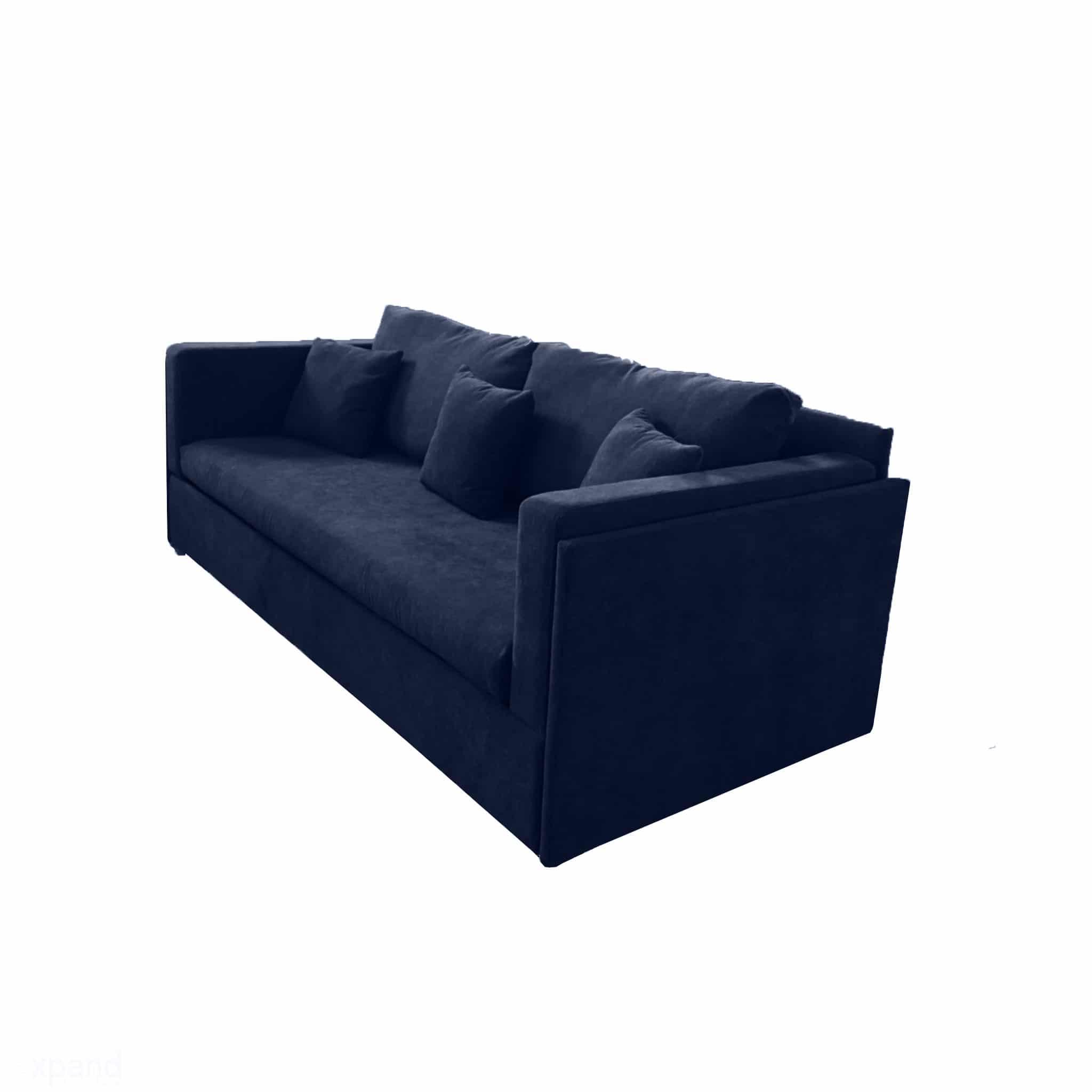 Dormire-Sofa-Bunk-Bed-in-blue-fabric-soft-sleeps-2-people