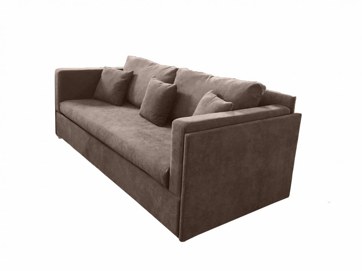 Um Brown Fabric Dormire Expand, Brown Cloth Sofa Bed