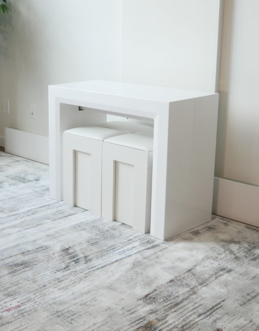 ultimate-space-saving-set-with-2-benches-jr-giant-extending-console-and-2-mini-scatola-benches-in-white