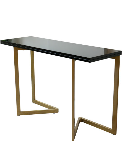 Transforming Console To Table Expand, Sofa Table Desk Combo