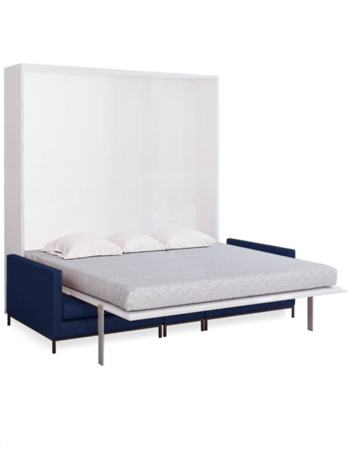 MurphySofa King Modular Migliore Large sofa in Navy Blue open as a king wall bed