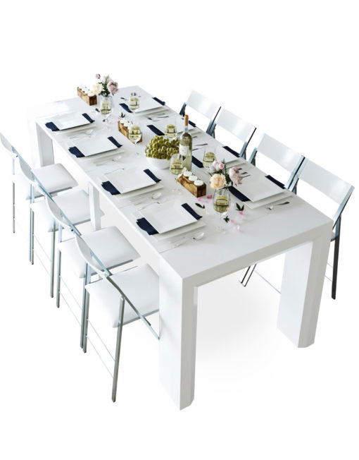 Junior-Giant-Counter-Height-glossy-white-extending-table-with-taller-chairs