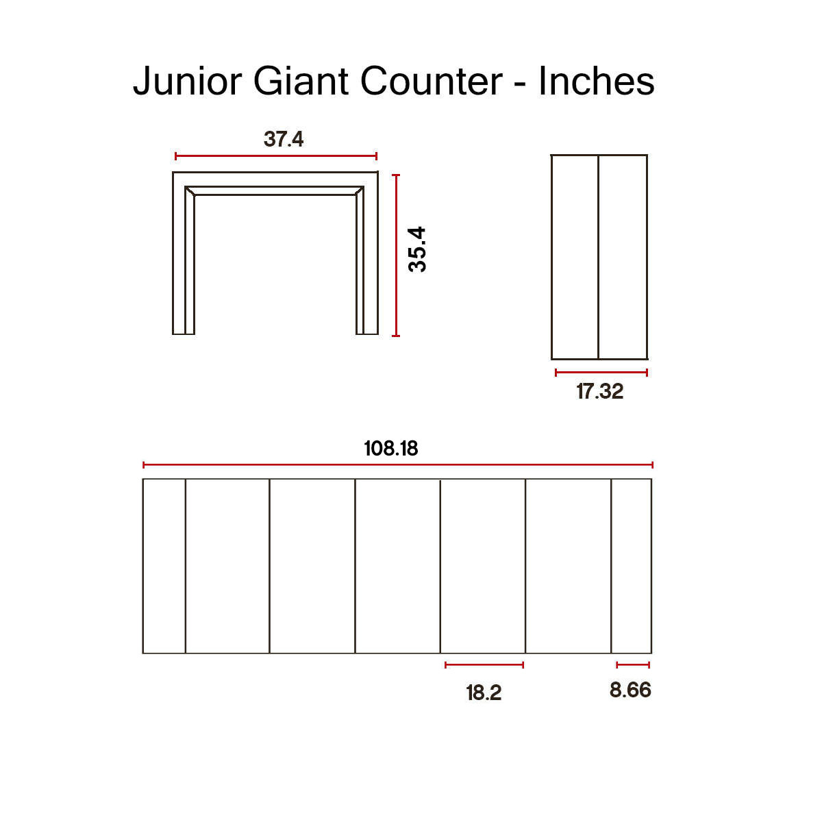 Junior-Giant Revolution - counter height -Dimensions-in-Inches