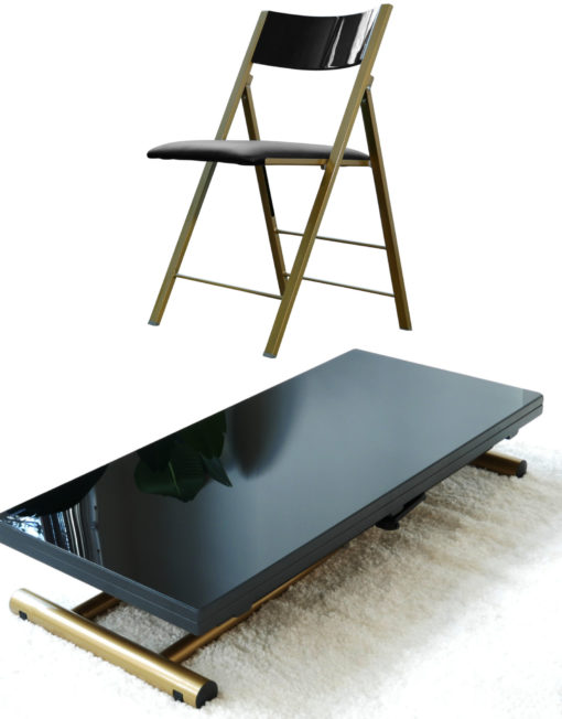 Transforming-table-evolved-v3-black-glass-and-satin-gold-dining-set-for-apartments