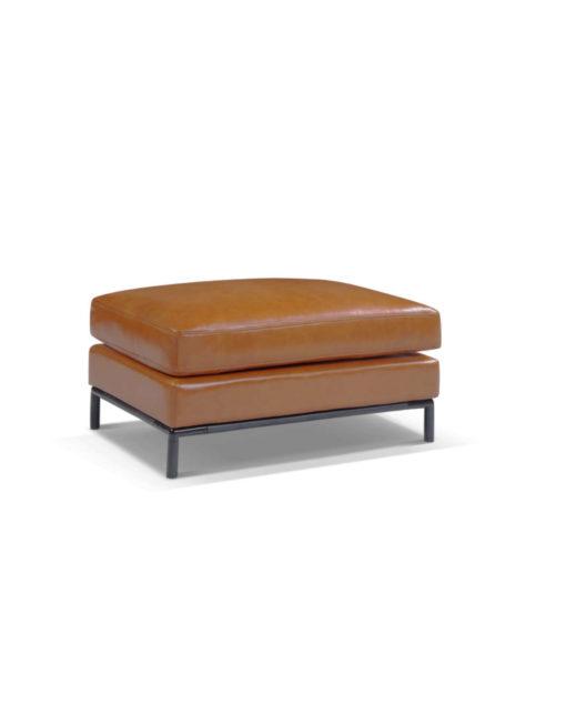 Migliore-small mini ottoman in genuine leather