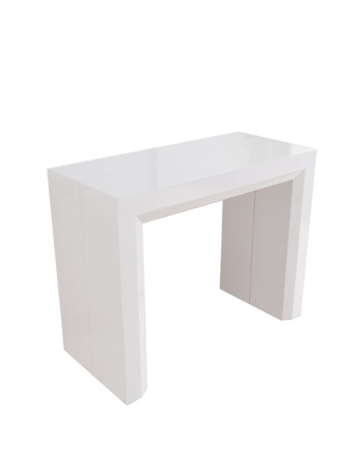 Junior-Giant-revolution-in-glossy-white-console-extending-dinner-table-can-seat-12