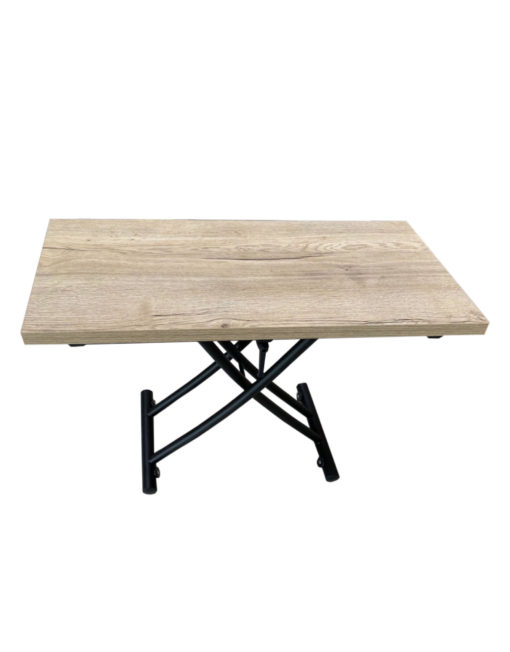 Transforming-Table-Space-Saver-Evolved-coffee-to-dinner-table-Grano panel with black legs
