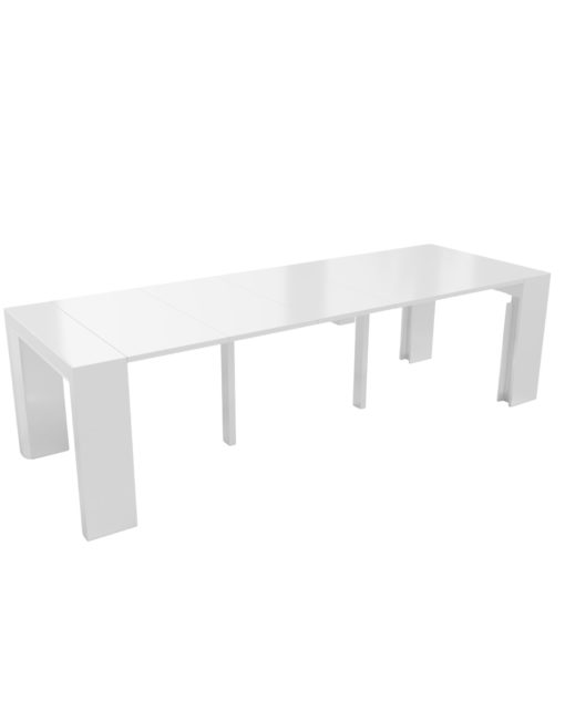 Junior-Giant-revolution-console-to-dinner-table-that-seats-12-in-glossy-white-and-uses-magnetized-extensions
