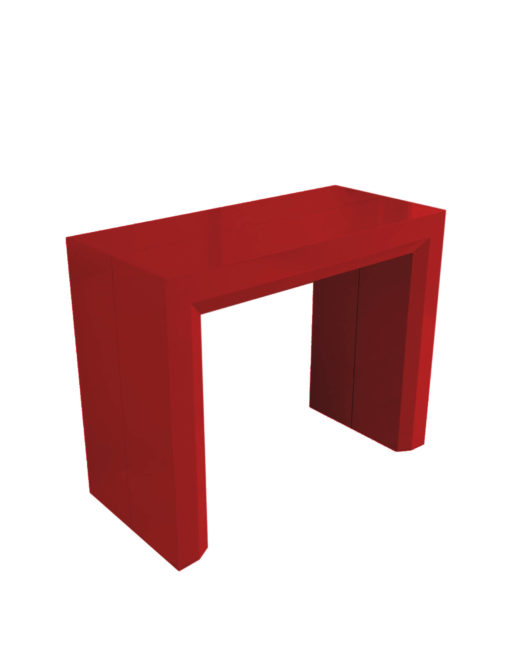 Junior-Giant-revolution-in-glossy-red-paint-console-extending-dinner-table-can-seat-12